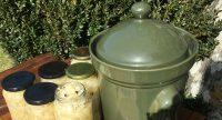Fermenting Crockpot and Sauerkraut