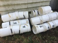 20L humanure buckets with new bucket handles